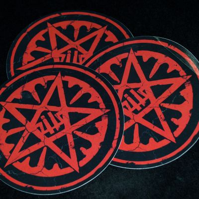 """Bildbeschreibung von """"Sticker Pentagram""""."""